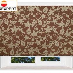 Рулонные шторы В-27. Ажур коричневый